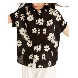 Madewell Central Ikat Floral Tunic Shirt, XS